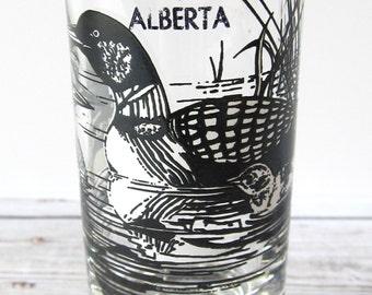 VINTAGE - Ducks in Lake - Jasper, Alberta, Canada Shot Glass - Collectible