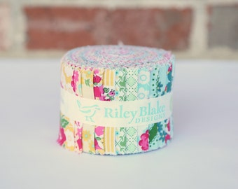 "Rolie Polie 2.5"" Strips - Dainty Darling Fabric by Lindsay Wilkes for Riley Blake Designs"