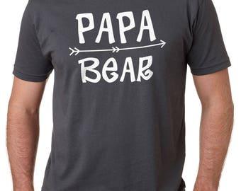 Papa Bear Shirt Mens T Shirt Papa Shirt Fathers Day Gift Dad Shirt Fathers Day Shirts Dad Gift Papa Bear Tee