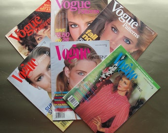 Vogue Patterns Magazines All 6 Issues from 1981 Great Condition