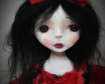 SALE-Handmade Collectible Unique -OOAK- Clay poseable Art doll- Madleen