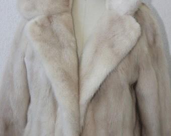 Vintage Tourmaline Mink Stroller/Vintage Mink Coat/ Off-White with  Hint of Beige Mink Coat   JUST LOWERED!