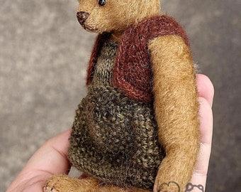 Fickle Fee Vintage Style Miniature OOAK Mohair Artist Teddy Bear from Aerlinn Bears
