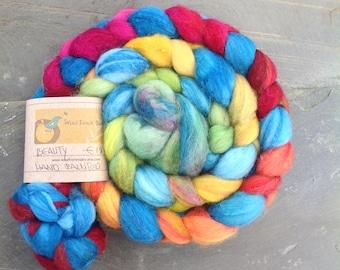 BEAUTY  - Handpainted Merino Silk Roving 100g/3.5oz