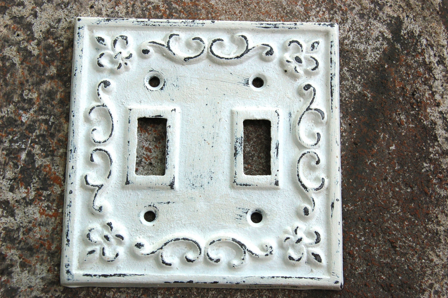 Decorative Double Switch Plate Covers Wrought Iron Hand