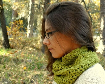 Cotton Cowl Infinity Scarf Mens Womens Crochet Cotton Scarves Light Weight Scarf More Custom Color Options