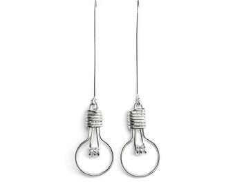 Light Bulb Earrings - Unusual Jewelry, Lightbulb Earrings