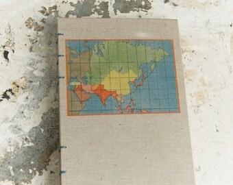 1939 ASIA Vintage Travel Notebook Journal
