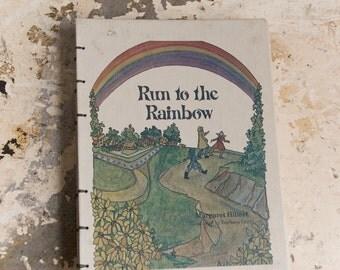 1981 RAINBOW Vintage Repurposed Book Journal Notebook