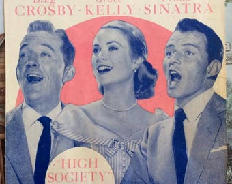 """Vintage 1950s Sheet Music Copyright 1955 & 1956 TRUE LOVE Song With Bing Crosby Grace Kelly Frank Sinatra From The Movie """"High Society"""""""