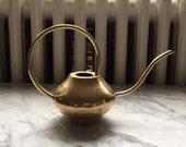 Vintage Modern  Heavy Petite Brass Watering Can