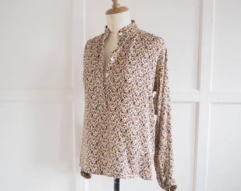 Vintage YSL print silk blouse EUR 36