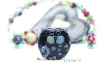 Lampwork Glass Cat Bead 576