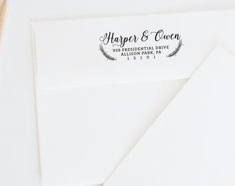 Return Address Stamp, Calligraphy Address Stamp, Personalized Address Stamp, Wedding Stamp, Custom Address Stamp, Wedding Gift