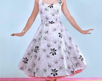 Summer floral Angie Halterneck Pinup Swing Dress