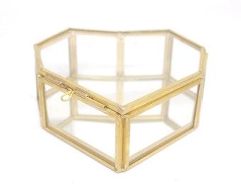 Large Heart Shape Glass Jewellery Box, Destash, Seconds, Heart Jewellery Box, Glass Box, Heart Box, Glass Jewelry Box, Heart Jewelry Box