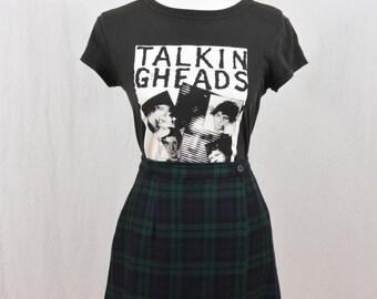 Vintage High Waisted Skirt, Size XS, Tartan Mini Skirt, Grunge, 90's Clothing, School Girl, Clueless, Tumblr Clothing