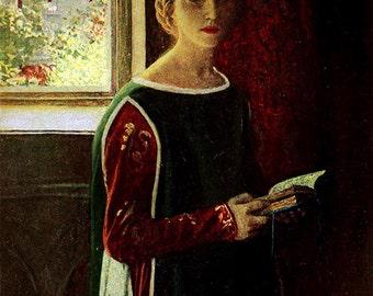 A Fair Woman, Howard Pyle, Vinatge Art Print