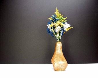 Handcrafted Sculptured Wooden Bud Vase. Weed Pot. One-Of-A-Kind Artisan Vase. Freeform Shaped Bud Vase. Floral Arrangement. Refined Decor.