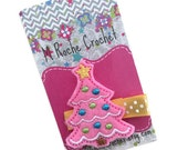 Christmas tree hair clip, Christmas hair clip, tree felt clip, toddler hair clip, hair accessory, hair clippies, baby barrettes