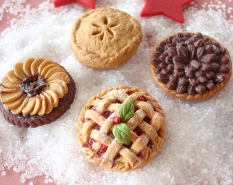 Homemade Pies and Tarts for your Miniature Bakery or Kitchen - OOAK 1:12 Scale Miniature - 100% Handmade by Mini Takeouts