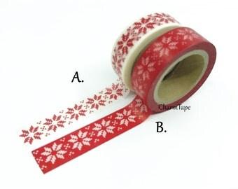 Festive Snow flakes Washi Tape 15mm x 10m WT246