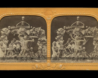 RESERVED Do Not Buy  Tissue Stereoview V RARE ONE with Devil as Photographer w Camera