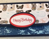Gift Card Holder, Video Game Card, xbox card, ps4 card, Playstation Card, Nintendo Card, Boys Birthday Card, Gift Card Envelope