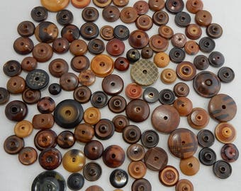 112 Assorted Vintage Vegetable Ivory WHISTLE Button Lot
