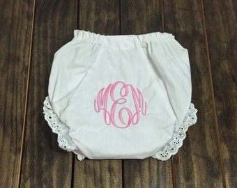 Monogrammed Bloomers - Monogrammed Diaper Cover - Personalized Baby Gift