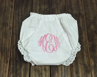 Monogrammed Baby Bloomers - Monogrammed Diaper Cover - Personalized Baby Gift