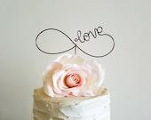 INFINITY Custom Cake Topper, Infinity Love Wedding Cake Topper, Infinity Wedding Cake Decoration, Custom Wedding Decor, Wedding Cake Decor