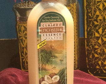 Vintage 1980s Full Bottle of Clairol Cocomilk Shampoo
