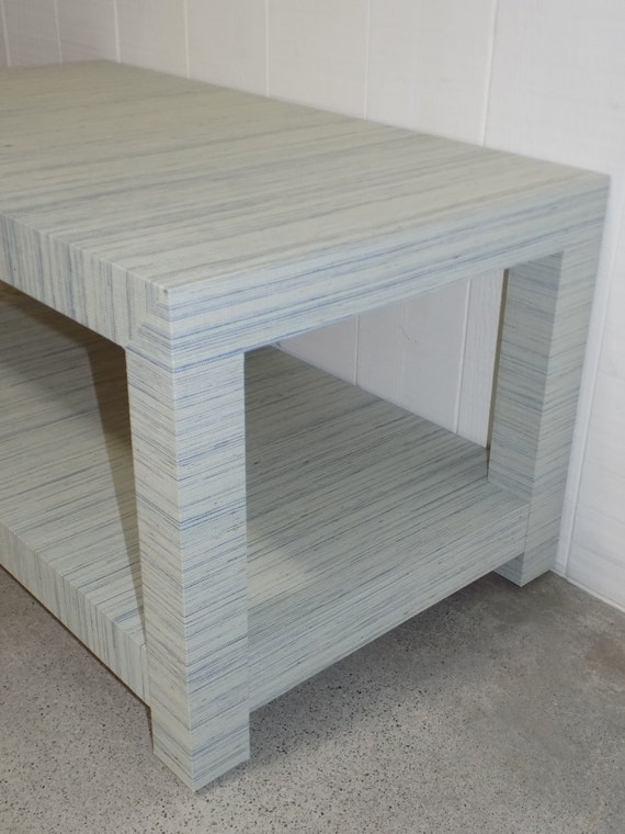 Grasscloth Coffee Table/ Cocktail Table - Custom Built - Design Your OWN