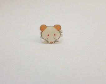 Fancy Rat Albino Lab Rat PEW Rat Ring Pet Rat Jewellery