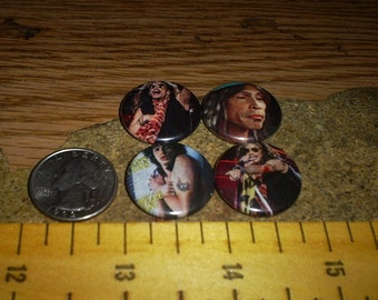 STEVEN TYLER 4 one inch pin back buttons set