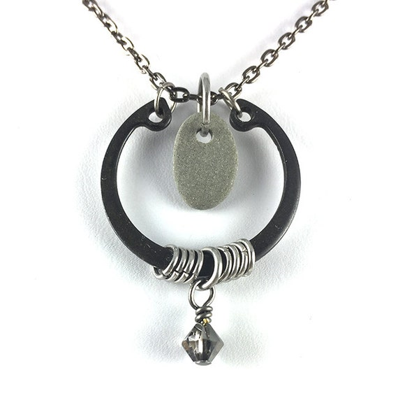 As seen on The Vampire Diaries, Beach Stone Hardware Necklace