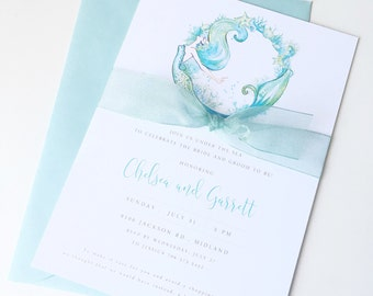 Mermaid Bridal Shower Invitations