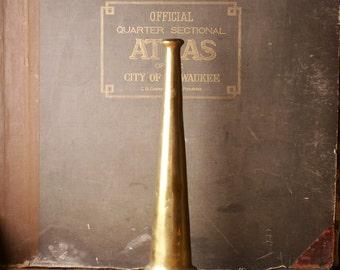 Vintage Brass Fire Hose Nozzle - Great Man Cave Decor