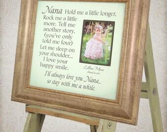 Nana Gift, Gift for Grandma, Grandmother gift from granddaughter, grandson quote, grandmother quote, grandmother frame grandson gift 16 X 16