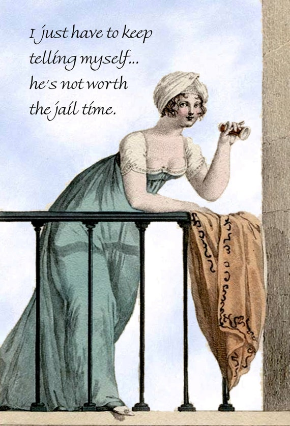 "I Just Have To Keep Telling Myself... He's Not Worth The Jail Time. ~ Marie Antoinette Funny 4"" x 6"" Postcards  Free Shipping in USA"