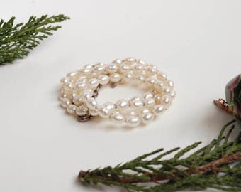 Delicate Pearl Necklace with Sterling