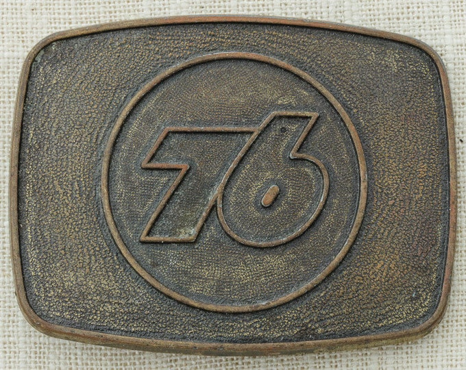 76 Gas Station Belt Buckle Truck Stop Seventy Six Fuel Vintage Belt Buckle Trucker 16A