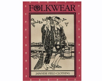 Japanese Clothing Folkwear Uncut Sewing Pattern 112 Japanese Fieldwear Hippari Monpei Padded Jacket