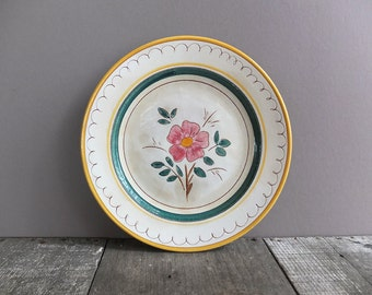 Vintage Stangl Pottery Plate / Stangle Garden Flower Plate / Hand Painted Plate