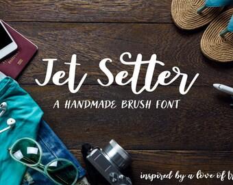 Jet Setter: A Handmade Brush Script Font