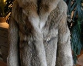 Beautiful coyote / wolf fur coat / jacket / outerwear