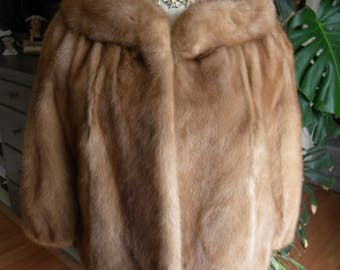 Beautiful mink fur stole / cape / cover / shawl / wedding