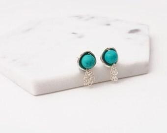 Silver Jellyfish Earrings - PMC Earrings, PMC Jewelry, Silver Earrings