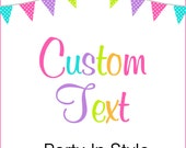 Custom Order text